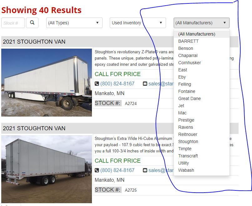 used semi trailer for sale by brand