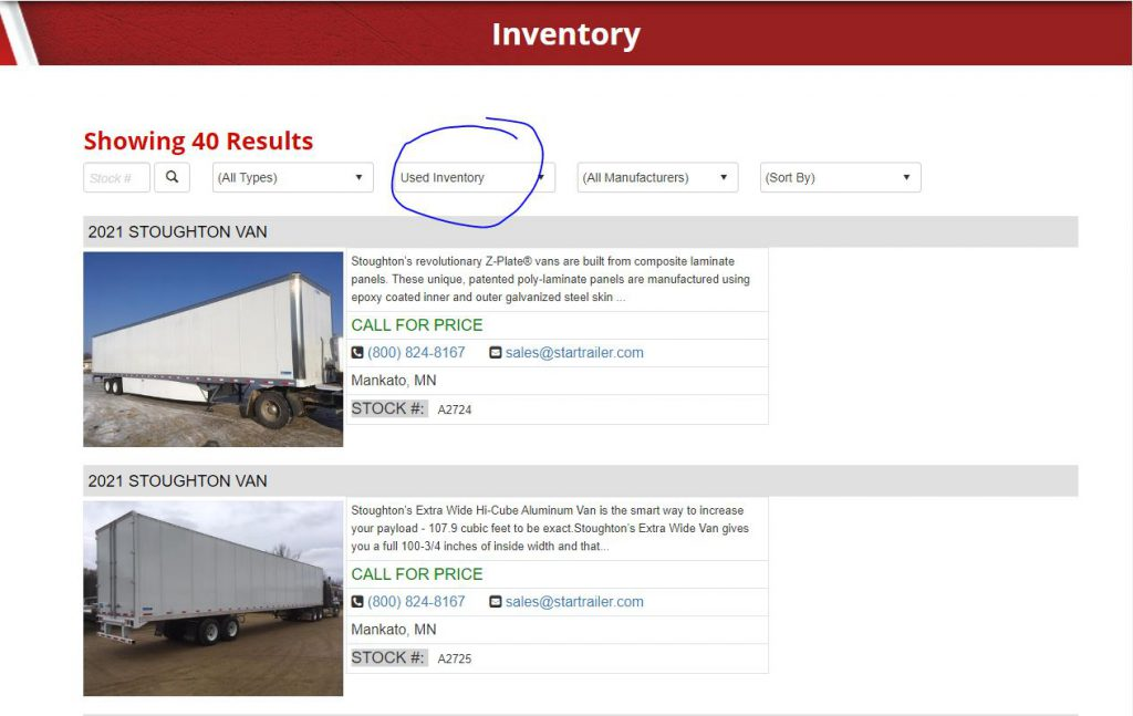 used semi trailer for sale page