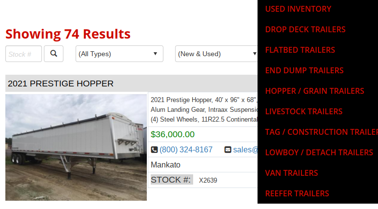 semi trailers for sale in wisconsin