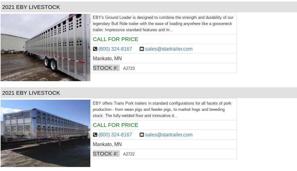 semi trailers for sale in south carolina